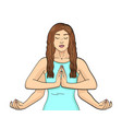 lakshmi a woman with four hands in hinduism pose vector image