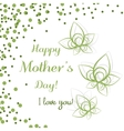 Leaves Mothers Day vector image vector image