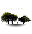 life is good for this joyful man with arms extende vector image vector image