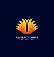 logo abstract flower gradient colorful style vector image vector image
