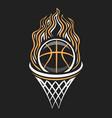 logo for basketball vector image