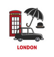 london travel agency promo poster with national vector image