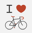 love bike vector image