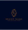 luxury logotype premium letter k logo with golden vector image vector image
