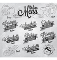 Menu Italian coal vector image