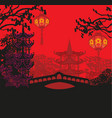 mid-autumn festival for chinese new year card vector image vector image