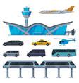 modern aerodrome or transport hub aviation vector image