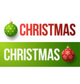 modern trendy colorful typography christmas vector image vector image