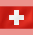 national flag switzerland for sports vector image vector image
