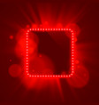 neon frame light color red vector image vector image