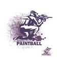 paintball player stylized symbol logo or emblem vector image