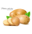 potatoes with slices vector image