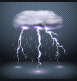 realistic falling rain background vector image vector image