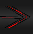 red light black line arrow on dark grey metal vector image vector image