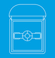 ring in a gift box icon outline style vector image vector image