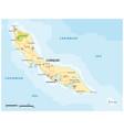 road map caribbean abc island curacao vector image vector image