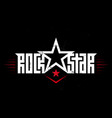 rock star - music poster with original lettering vector image vector image
