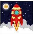 rocket goes up in the sky vector image