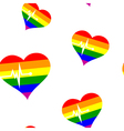 Seamless background with Gays icons vector image vector image