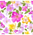seamless floral background isolated red yellow vector image vector image