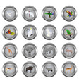 set of metal buttons for web round with images o vector image vector image