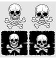 Set of Skull and Crossbones vector image