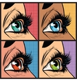 Seth colored eyes women of many nationalities vector image vector image