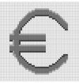 Sign pixel euro grey in grid 508 vector image