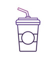 soda drink cup icon vector image vector image