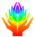 Spirituality peace and love - colorful icon vector image vector image