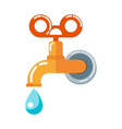 tap with water drop vector image