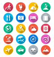 Traveling flat color icons vector image vector image