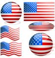 Usa flags vector | Price: 1 Credit (USD $1)