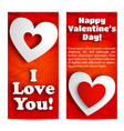 valentines day beautiful vertical banners vector image vector image