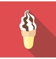 Waffle cone ice cream icon flat style vector image vector image