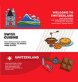 welcome to switzerland promotional travel company vector image vector image
