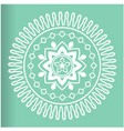 white abstract mandala green background ima vector image vector image