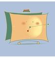 Yellow cartoon alarm clock vector image