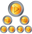 gold and silver buttons vector image