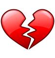 broken heart icon vector image