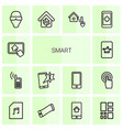 14 smart icons vector image vector image
