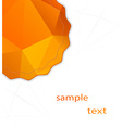 abstract background with polygonal banner vector image vector image