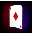 Ace of diamonds card icon cartoon style vector image vector image