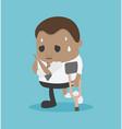 african businessman injured businessman vector image