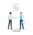 agreement between people on vector image vector image