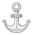 anchor hand drawn sketch vector image