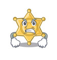 angry star police badge character shape