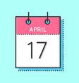 april calendar icon vector image vector image