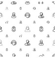 assistant icons pattern seamless white background vector image vector image