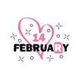 badge 14 february happy valentines day concept vector image
